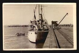 Uruguay  Postcard Cpa AK - Military Ship Army Warship La Paloma Warf Docks 1940 Real Photo  W6-035 - Uruguay