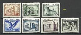 LETTLAND Latvia 1939 = 7 Values From Set Michel 271 - 278 * (Mi 274 Is Missing) - Lettland