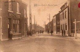 Les Awirs  Rue De Fexhe Bien Animée Café Bien-Etre Circulé En 1932 - Flémalle