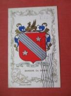 Crest Bangor   Co. Down     Stamp & Cancel >  Ref 4096 - Wales