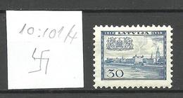 LETTLAND Latvia 1938 Michel 268 Perf 10 : 10 1/4 WM Normal * - Lettland
