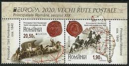 "RUMANIA /ROMANIA /RUMÄNIEN -EUROPA 2020 -""ANTIGUAS RUTAS POSTALES - ANCIENT POSTAL ROUTES.- SERIE De BF Tipo 2 - S - 2019"