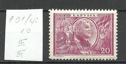 LETTLAND Latvia 1938 Michel 267 Perf 10 1/4:10 WM Normal Vertical * - Lettland