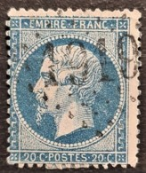 FRANCE 1862 - Canceled - YT 22 - 20c - 1862 Napoleon III