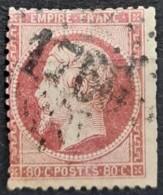 FRANCE 1862 - Canceled - YT 24 - 80c - 1862 Napoleon III
