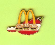 Pin's Mac Do McDonald's Autriche Carte - 7W18 - McDonald's