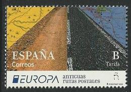 "ESPAÑA /SPAIN /SPANIEN /ESPAGNE - EUROPA 2020- ""ANTIGUAS RUTAS POSTALES - ANCIENT POSTAL ROUTES""-SERIE N Con Logo EUROPA - 2019"