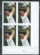 USA. Scott # 5455 MNH Plate Block Of 4. Arnold Palmer Golfer  2020 - Plattennummern