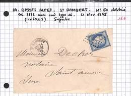 04 - BASSES ALPES - SAINT RAMBERT- No 60 Oblitéré GC 3828 AVEC CAD TYPE 16 - 1875 - Ind5 - Superbe - 1849-1876: Période Classique