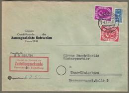 "Bund: Brief Mit Mi-Nr. 125 U. 137: "" Dauerserie Posthorn 25 U. 80 Pfg U. Notopfer Berlin "" !    X - Oblitérés"