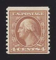 US #495 1916-22 Orange Brown Unwmk Perf 10 Vert MNH Fine Scv $21.50 - Vereinigte Staaten