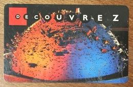 75 PARIS LA GÉODE CARTE D'ENTRÉE EN PLASTIC QUE POUR LA COLLECTION - Tickets D'entrée