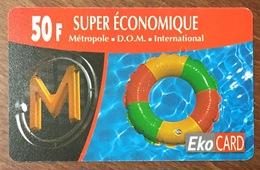GUADELOUPE EKO CARD 50 FRANCS PRÉPAYÉE PREPAID PHONECARD CARD QUE POUR LA COLLECTION - Antilles (French)
