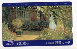 JAPON TELECARTE PEINTURE - Schilderijen