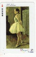 JAPON TELECARTE KANSAI PEINTURE - Schilderijen