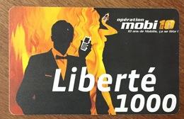 NOUVELLE CALÉDONIE RECHARGE GSM LIBERTÉ 1000 PRÉPAYÉE PREPAID PHONECARD CARD - Nouvelle-Calédonie