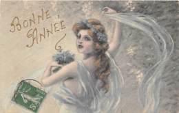 """ILLUSTRATEUR - VIENNOISE - B.K.W.I. 684-3 - FEMME - FANTAISIE """"BONNE ANNEE"""" - Künstlerkarten"""