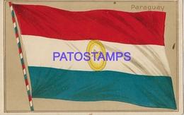 134168 PARAGUAY ART FLAG BANDERA POSTAL POSTCARD - Paraguay