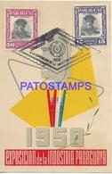 134169 PARAGUAY EXPOSICION DE LA INDUSTRIA 1958 MULTI STAMPS POSTAL POSTCARD - Paraguay