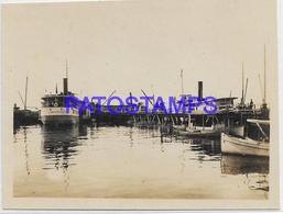 134171 PARAGUAY ASUNCION VISTA DEL PUERTO PORT & SHIP 11 X 8.5 CM PHOTO NO POSTAL POSTCARD - Paraguay