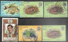 Belize  1984-5  6 Diff Used  2016 Scott Value $12.50 - Belice (1973-...)
