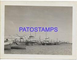 134174 PARAGUAY ASUNCION VISTA PARCIAL PUERTO PORT & SHIP PHOTO NO POSTAL POSTCARD - Paraguay