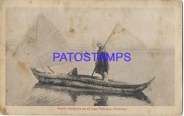 134178 BOLIVIA LAGO TITICACA COSTUMES NAVIO INDIGENA SPOTTED  POSTAL POSTCARD - Bolivia