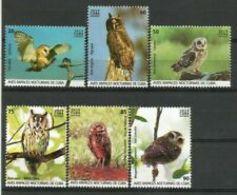Cub2019 Night Birds Of Prey, Owls, Lechuzas 6v + S/S MNH - Owls