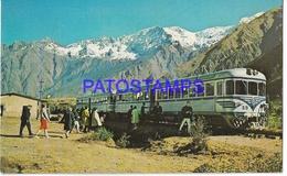 134191 PERU MACHUPICCHU RAILCAR TREN TRAIN POSTAL POSTCARD - Perú