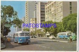 134194 PERU LIMA AVENIDA TACNA & AUTOBUS BUS POSTAL POSTCARD - Perú