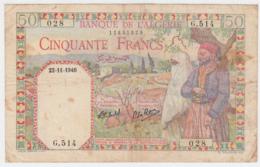Algeria 50 Francs 1940 VF Pick 84 - Algerije