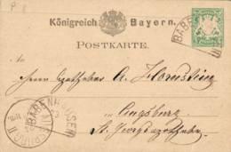 BABENHAUSEN 5 Pfg GSKte  (P8) N. Augsburg - Stamped Stationery
