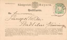 1875 AUGSBURG 2 Kreuzer GSKte - Stamped Stationery