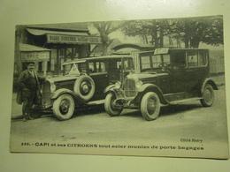 CPA Rare,Capi Et Ses Citroëns à Couilly,thème Voiture Ou Métier,très Bel état - Marchands Ambulants