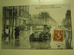 CPA,Choisy Le Roi,route De Fontainebleau,écrite,1910,thème Crue De La Seine,très Bel état - Choisy Le Roi