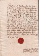 1797 München, Quittung über Achtzig Gulden Und 3 Kreuzer M. Rotem Lacksiegel - Historical Documents