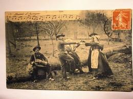 La Bourrée D'Auvergne ,voyagée 1908,pas Commun - Danze