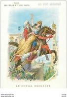 Chromos. N° 34060 .conte Des Mille Et Une Nuits. Le Cheval Enchanté.au Bon Marché.publicité.16.5 X 12 Cm - Au Bon Marché