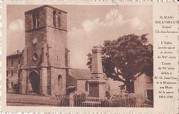 M        ST JEAN SOLEYMIEUX                          L Eglise - Saint Jean Soleymieux