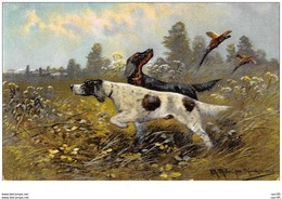 Chasse. N° 47593. Illustrateur .chiens - Hunting