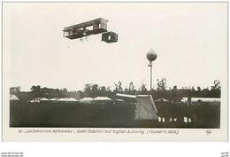 AVIONS.n°28259.LOCOMOTION AERIENNE.JEAN GOBRON SUR BIPLAN A JUVISY.1909 - ....-1914: Précurseurs