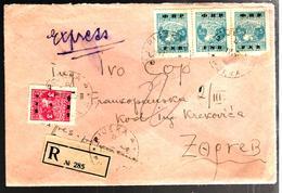 32521 - 4 TP Avec Surcharges - 1945-1992 Sozialistische Föderative Republik Jugoslawien