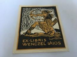 BM - 1400 - EX-LIBRIS  - WENCZEL LAJOS - Archer - Exlibris