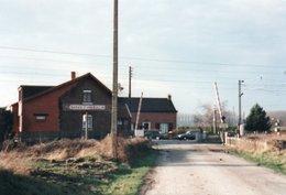PHOTO 15 X 10 DE MARAIS D ANNOEULLIN HALTE ET PASSAGE A NIVEAU - France