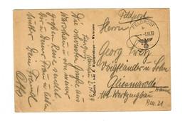 GG 3.10.39 Frühe Feldpost Warschau Nach Gliesmarode, Schöne Warschauer AK - Occupazione 1938 – 45