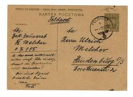 GG Feldpost 15.11.39 Auf Poln. Ganzsache Mit FPNr. 07955 Nach Hindenburg - Occupazione 1938 – 45