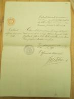 Leuze 1890 Acte De Naissance Hainaut Tournai - Birth & Baptism