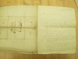 Brief Lettre Gent Dendermonde 1836 Advocaat Blomme - Faire-part