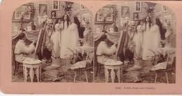 STEREO PHOTO  KILBURN YEAR 1899 / FAITH HOPE AND CHARITY - Stereoscopic