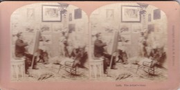 STEREO PHOTO  KILBURN YEAR 1897 / THE ARTIST S IDEAL / PAINTER AND NUDE YOUNG BOY - Stereoscopic